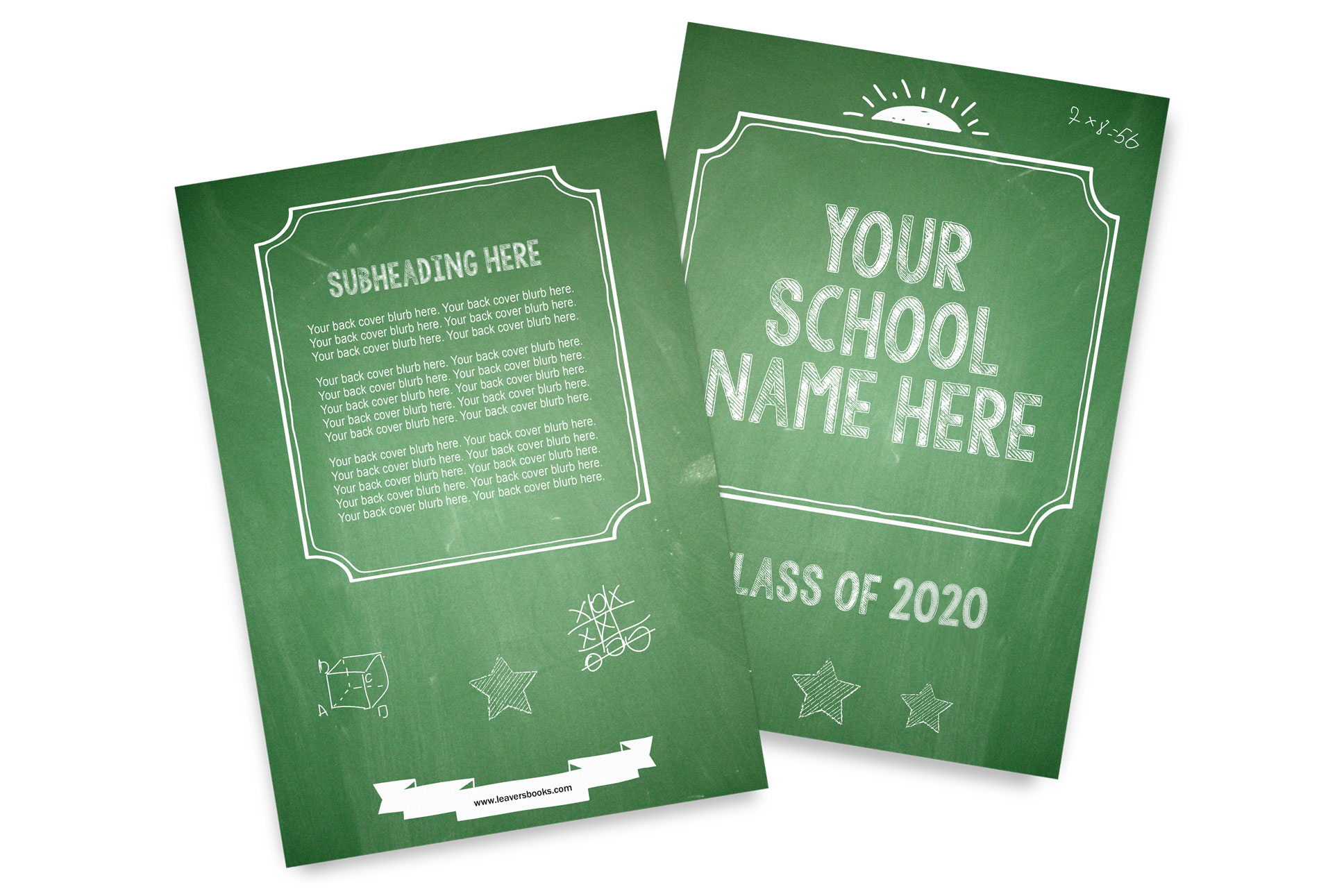Chalk Yearbook Covers