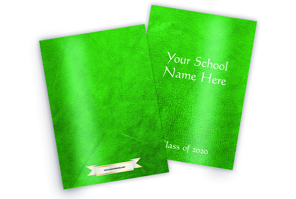 Leather Green Yearbook Covers