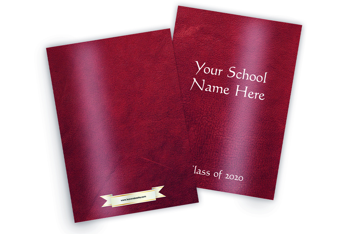 Leather Red Yearbook Covers
