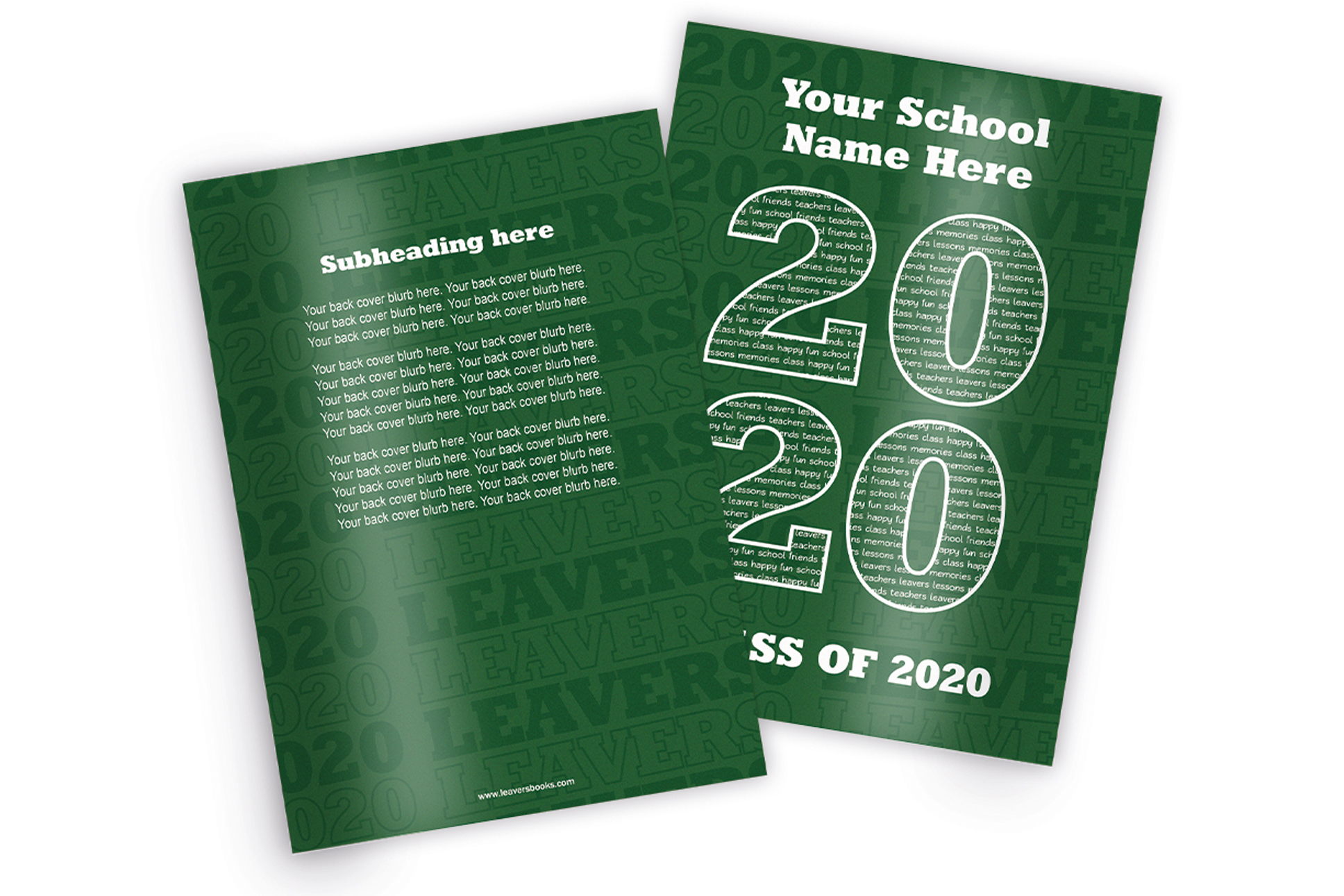 Varsity Green Yearbook Covers