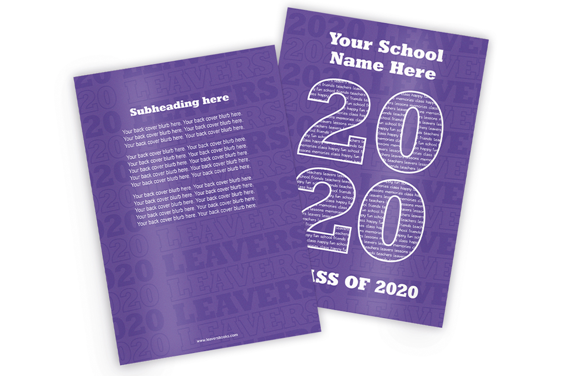 Varsity Purple Yearbook Covers