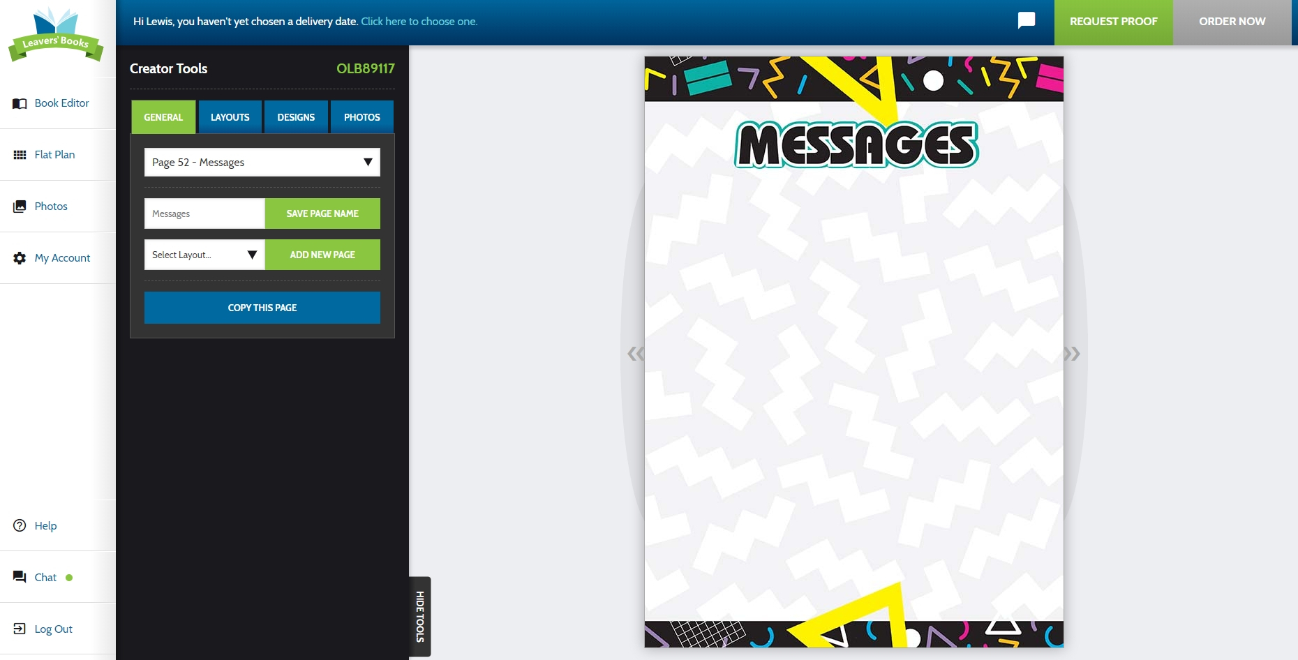 Message Pages