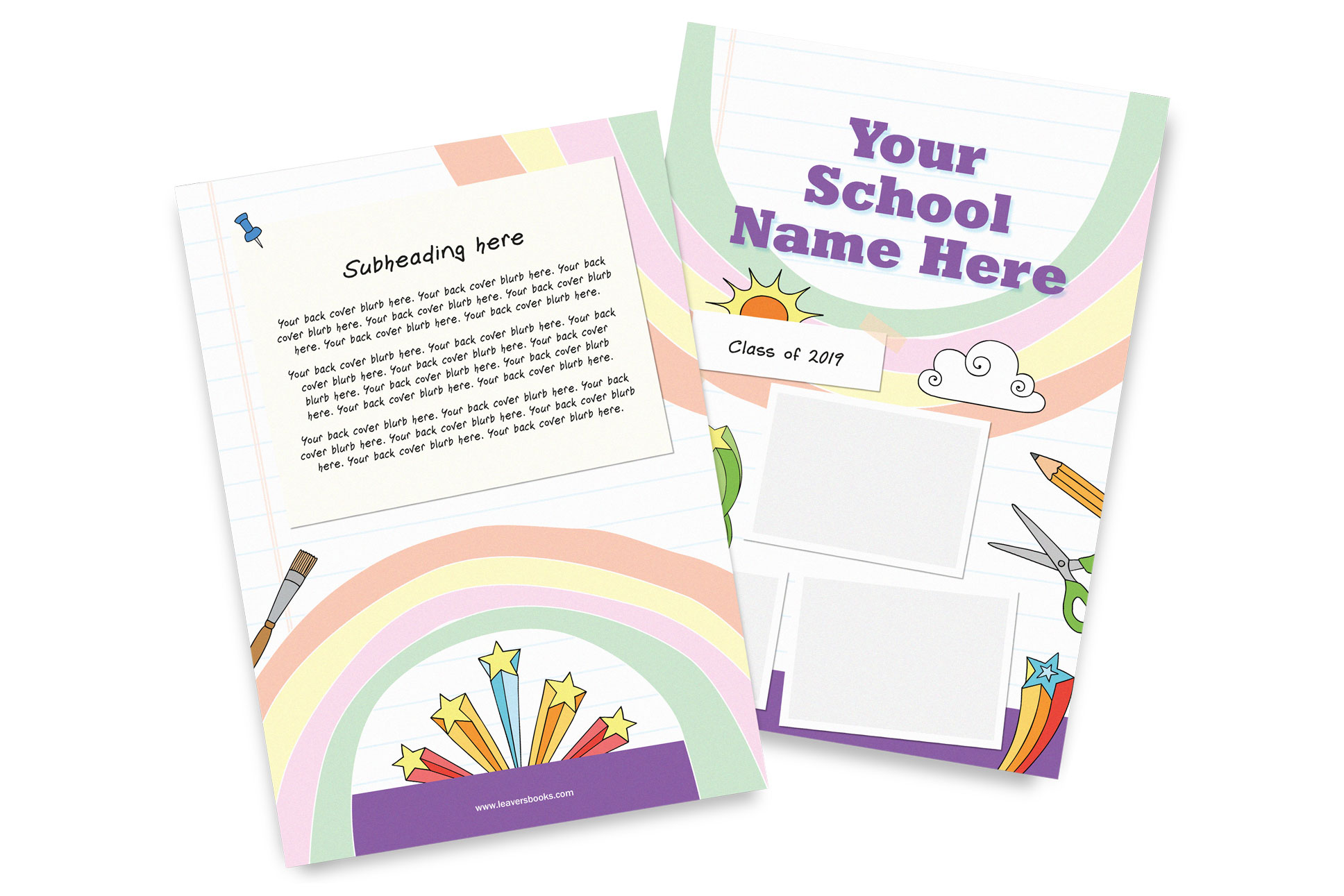 Rainbow Yearbook Covers