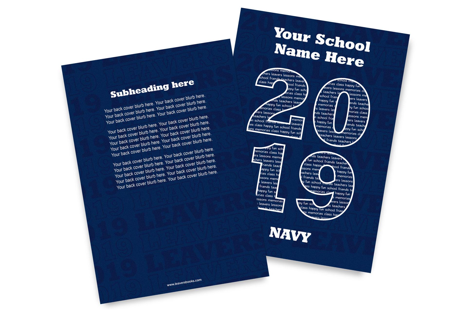 Varsity Blue Yearbook Covers