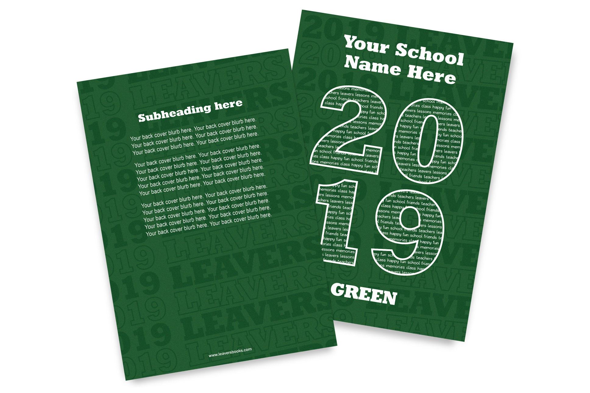 Varsity Green Yearbook Covers