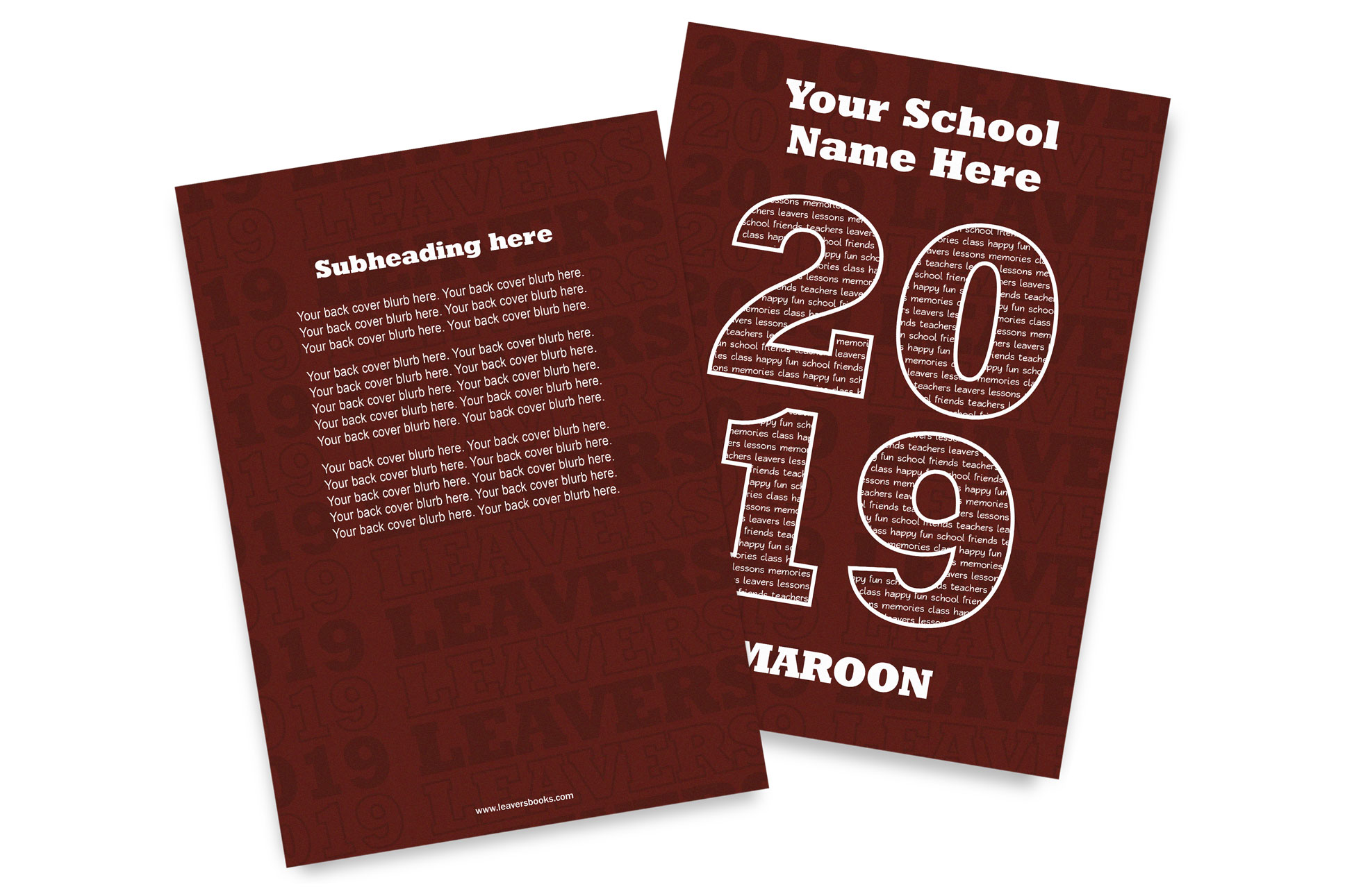 Varsity Maroon Yearbook Covers